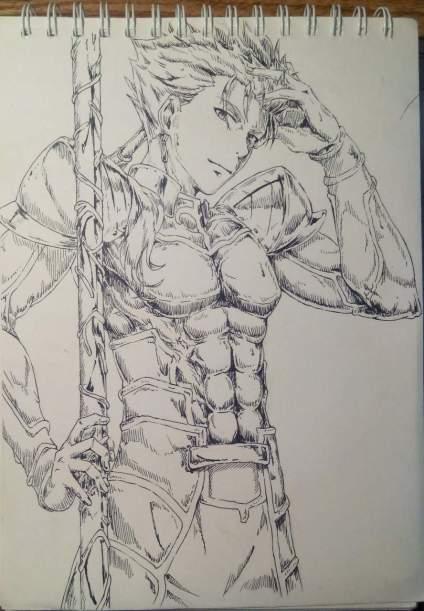 画了好几天的Lancer。求fate粉